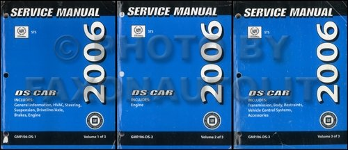 2006-cadillac-sts-original-repair-shop-manual-3-volume-set