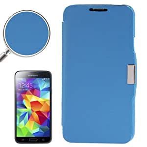 Brushed Texture Horizontal Flip Magnetic Buckle Leather Protective Case for Samsung Galaxy S5 / G900 (Blue)