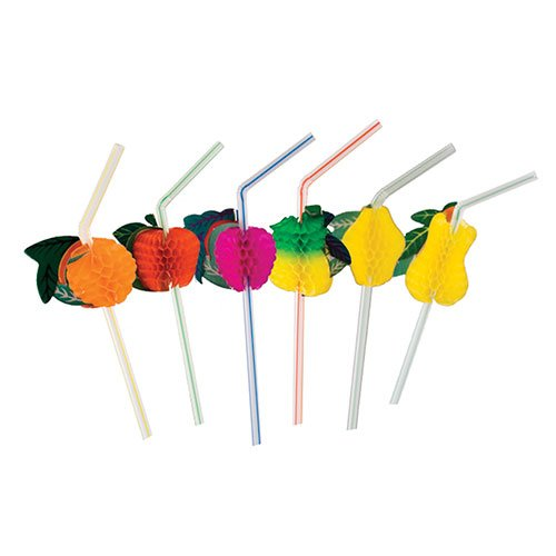 Royal Assorted Paper Fruit Straw, Package of 144 (Fruit Party compare prices)