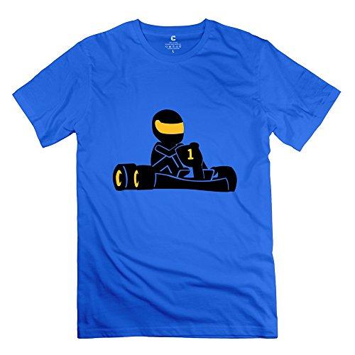 Kart Racing Men Tee Shirts Size Medium Royalblue