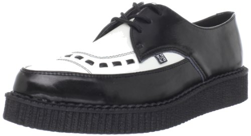 TUK  Pointed Toe Creepers,  Scarpe basse uomo, Nero (Schwarz (Black/White)), 43