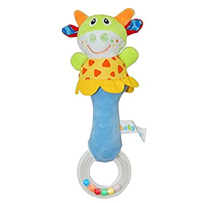 Herefind Soft Plush Animal Baby Rattle Toy Take Along with Safety 4 Style by Herefind Toy Extensions Made Co,Ltd that we recomend individually.