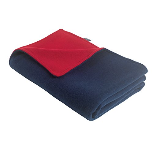 Original Turtle Fur Fleece - Baby Security Blanket, Navy/Red - 1
