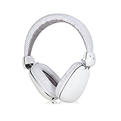 Mobilegear Wireless Bluetooth Headphone With Deep Bass & High Treble Effect & inbuit MIC - White