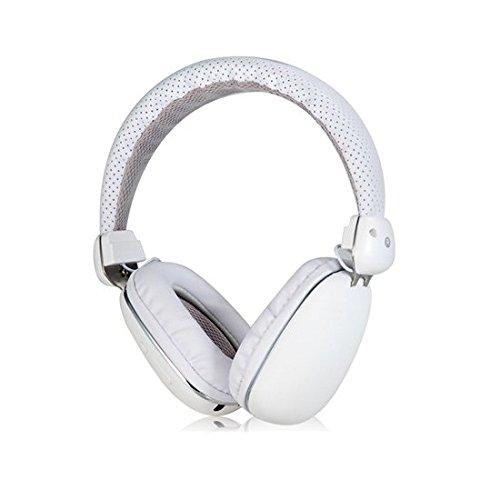 Mobilegear Wireless Bluetooth Headphone With Deep Bass & High Treble Effect & inbuit MIC - White