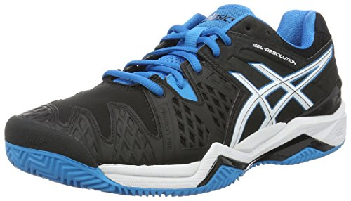 Asics Gel-Resolution 6 Clay, Scarpe da Tennis Uomo, Multicolore (Black/Blue Jewel/White), 44.5 EU