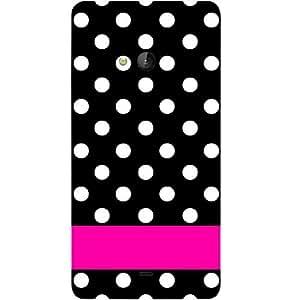 Casotec White Dots Pattern Design Hard Back Case Cover for Microsoft Lumia 540