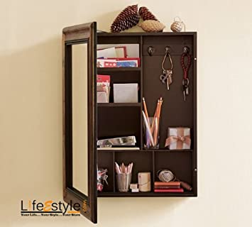 Buy Wooden Bathroom mirror medical box Online at Low Prices in