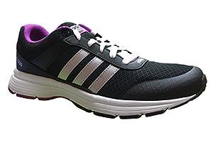 adidas NEO Women's Cloudfoam VS City W Casual Sneaker,Black/Metallic Silver/Flapnk,10 M US