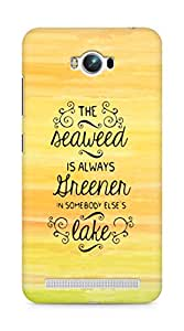 AMEZ seawead is greener in others lake Back Cover For Asus Zenfone Max ZC550KL