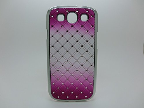 Maclogy 2014 Latest Fashion Design Luxury Dazzling Rhinestones Shiny Crystal Diamond Plating Protective Shell Trapped Difficult Cases Gradient Series Samsung Galaxy S3 I9300 And Fashion Chain Crystal Ornaments Color Uv Radiation Gifts(Purple)