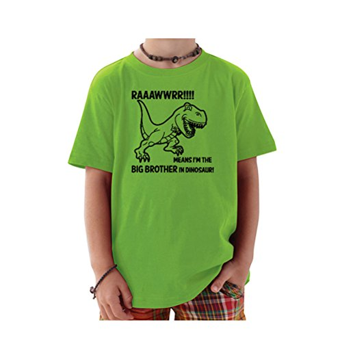 T-Shirt Universe Big Boys' Rawr! Means I'm The Big Brother In Dinosaur T-Shirt (Apple, 5/6T) (Im The Little Brother Shirt compare prices)