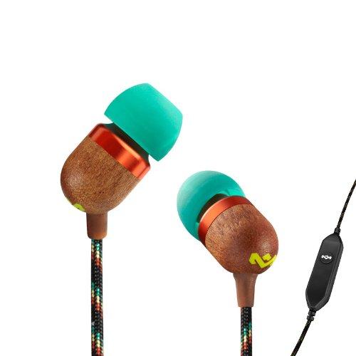 House Of Marley Em-Je001-Ra Smile Jamaica Jammin' In-Ear Headphone With 1-Button Mic - Rasta