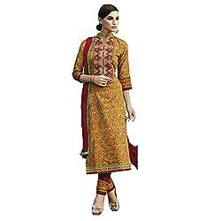 Bhelpuri Womem's Multicolor Cotton Dress Material