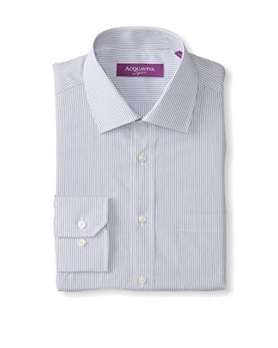 Acquaviva Men's Striped Barrel Cuff Dress Shirt