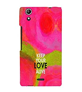 EPICCASE Keep the love Alive Mobile Back Case Cover For Micromax Canvas Selfie Lens Q345 (Designer Case)