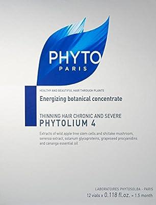 PHYTO PHYTOLIUM 4 Thinning Hair Treatment, 0.118 fl.oz per vial, 12 vials = 1.5 month