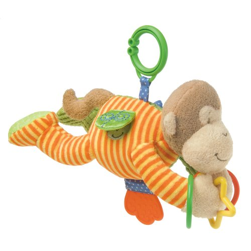 Mary Meyer Plush Activity Toy, Mango Monkey