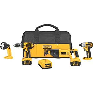 DEWALT DCK465L 18-Volt Cordless 4-Tool Combo Kit with XRP Li-Ion Battery Packs