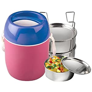 Flat 30% Off on Asian Stylo Hot Executive Tiffin 3 at Amazon
