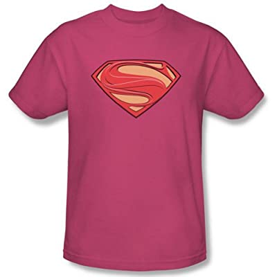 Superman Man of Steel Hot Pink New Solid Shield T-Shirt