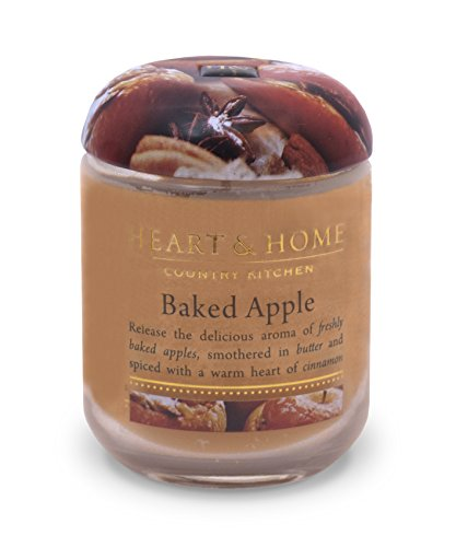 Heart & Home Small Glass Baked Apples Candle