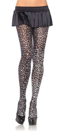 Foil leopard print tights