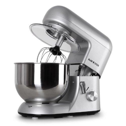 Klarstein Bella Argentea Robot da Cucina Multifunzione Mixer impastatrice planetaria (1200W, acciaio inox, 5.2 litri) silver