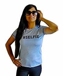 LetsFlaunt #Selfie T-shirt T-shirt Girls Grey Dry-Fit-Medium Nw
