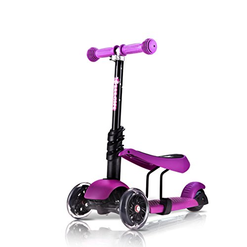 Sun lamps- Enfants Scooters Triple swing Car Baby Can Sit Slippery Car Scooter ( couleur : Violet )