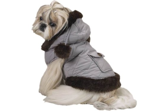 Winter Parka Faux Fur Hooded Dog Jacket