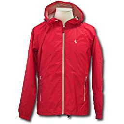Ferrari men\'s bicolor Rainjacket red M