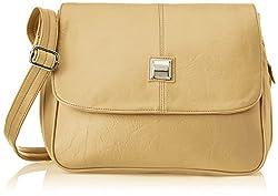 Fostelo Women's Sling Bag (Beige) (Fsb-280)
