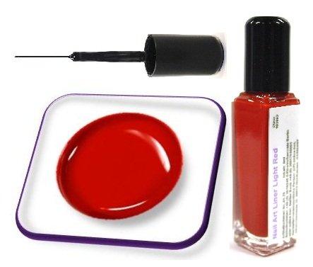 online-hut Nail Art Polish Liner 8ml Light Red