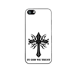 Vibhar printed case back cover for Apple iPhone 5 Ingodwetrust