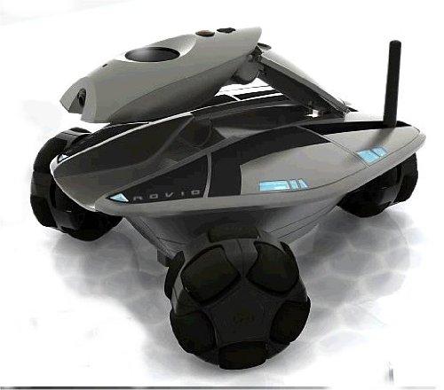 iPhoneやPCで遠隔操作できる 自律機能搭載 新型ラジコン ROVIO 未来型監視ロボ 自走式IPネットワークカメラ マイク スピーカー搭載
