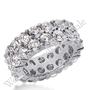 950 Platinum Diamond Eternity Wedding Bands, Shared Prong Setting 8.50 ct. DEB16925PLT - Size 9