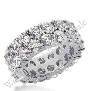 950 Platinum Diamond Eternity Wedding Bands, Shared Prong Setting 8.50 ct. DEB16925PLT - Size 9