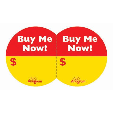 Buy Me Now Stickers (100/sheet) (100 per package)