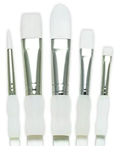 Royal Soft Grip Paint Brush Set~ White Nylon #Sg305