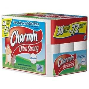 Charmin Ultra Soft Toilet Paper 36 Big Rolls=72 Regular Rolls