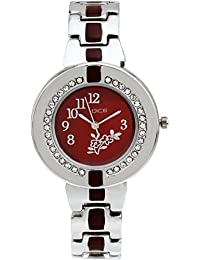 "Dice ""Venus-7205"" Jewel Ring, Multi Dial Watch For Women. Fitted With Stainless Steel Bracelet Round Shaped Watch."