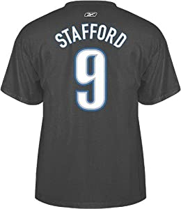 Detroit Lions Matthew Stafford Player Name and Number T-Shirt - XX-Large