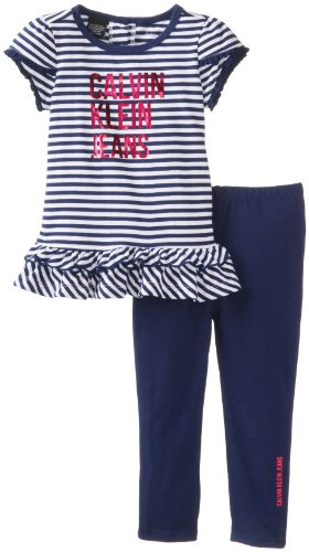 Calvin Klein Baby-Girls Infant Stripes Top  Leggings