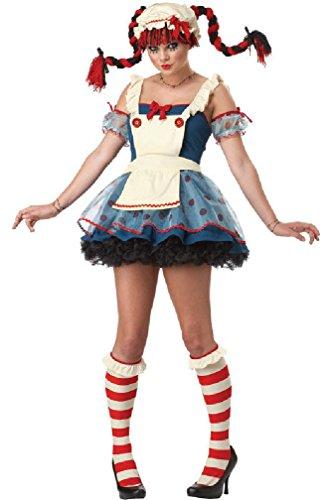 8eighteen Rag Raggedy Doll Adult Costume (Gothic Rag Doll Costume Plus Size)