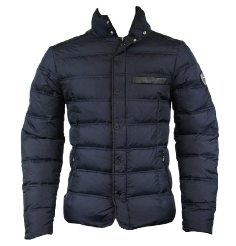 Emporio Armani EA7 271354 2A340 Mens Down Quilted Jacket Dark Slate M
