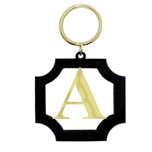 Mainstreet Collection Monogrammed Square Cut Keychain (J)