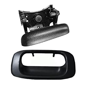 1999-2007 Chevy Silverado GMC Sierra Tail Gate Outside Tailgate Door Handle & Bezel (1999 99 2000 00 2001 01 2002 02 2003 03 2004 04 2005 05 2006 06 2007 07)