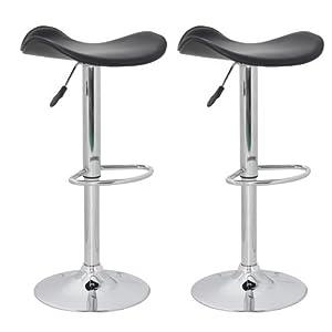 Barhocker Barstuhl Barsessel Columbus (2er Set) dreieckig schwarz / leicht zu reinigen / ergonomisch geformte Sitzfläche