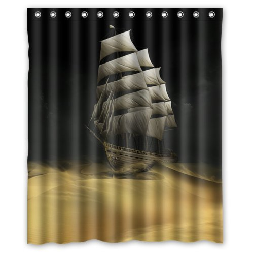 Kids pirate ship shower curtain read reviews here on the rocks shower